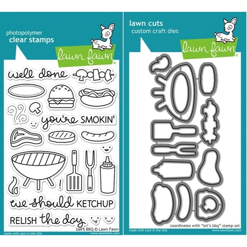 Lawn Fawn Set LF15BBQ RELISH THE DAY Clear Stamps and Dies  Preview Image