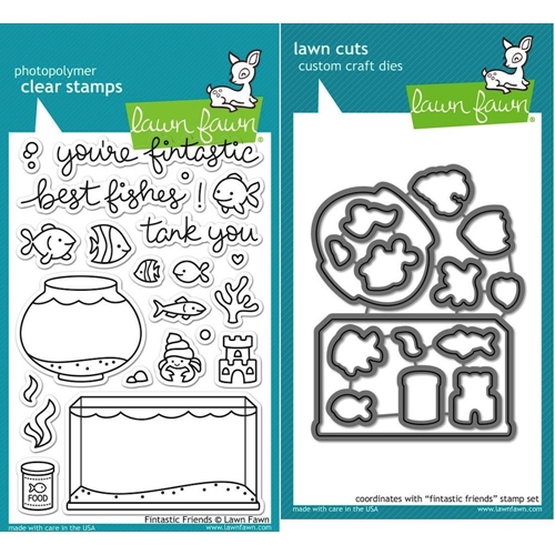 Lawn Fawn Set LF15FF TANK YOU Clear Stamps and Dies Preview Image