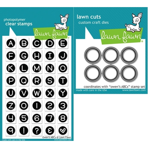 Lawn Fawn Set LF15ABC ABC BY OWEN Clear Stamps and Dies Preview Image