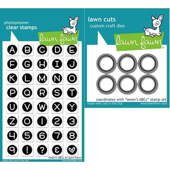 Lawn Fawn Set LF15ABC ABC BY OWEN Clear Stamps and Dies