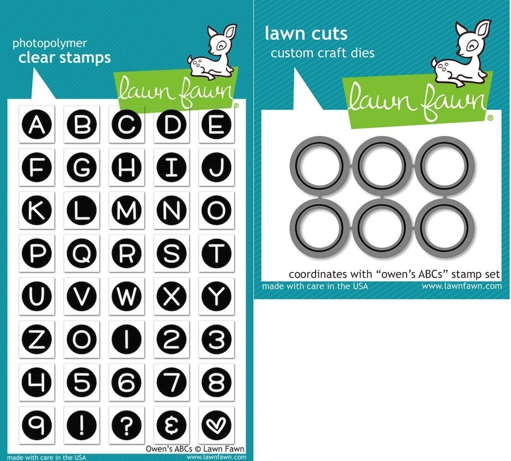 Lawn Fawn Set LF15ABC ABC BY OWEN Clear Stamps and Dies zoom image