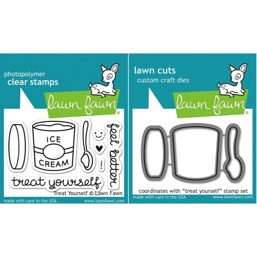 Lawn Fawn Set LF15TY FEEL BETTER Clear Stamps and Dies Preview Image