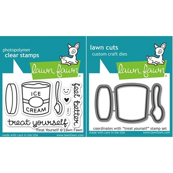 Lawn Fawn Set LF15TY FEEL BETTER Clear Stamps and Dies