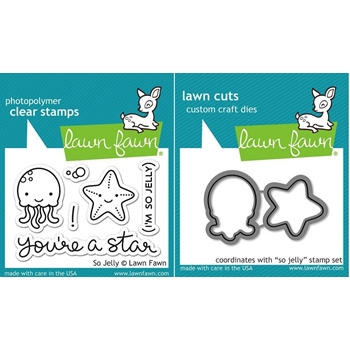 Lawn Fawn Set LF15SJY JELLY STAR Clear Stamps and Dies