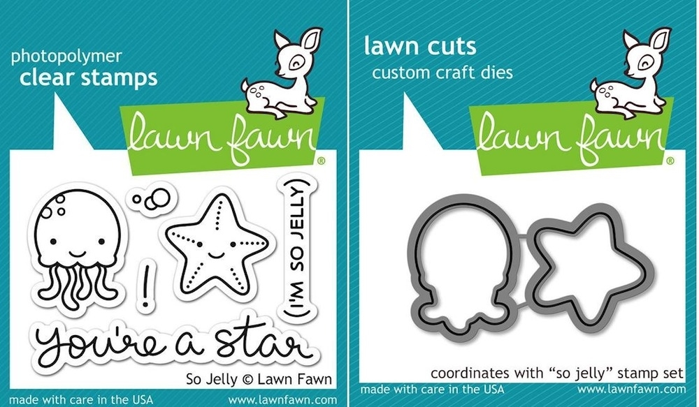 Lawn Fawn Set LF15SJY JELLY STAR Clear Stamps and Dies zoom image