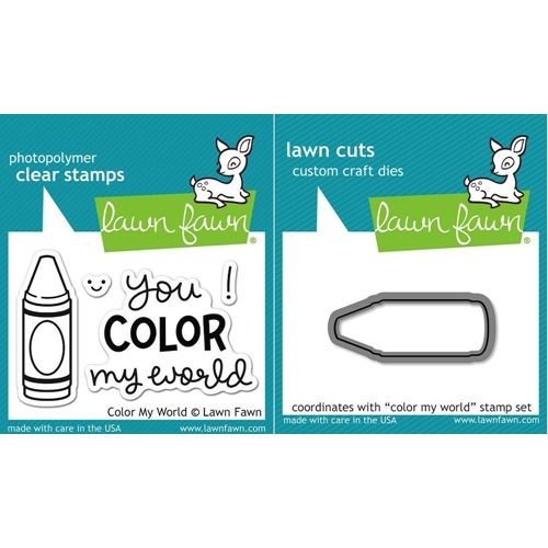 Lawn Fawn Set LF15CMW CRAYON Clear Stamps and Dies  Preview Image