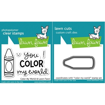 Lawn Fawn Set LF15CMW CRAYON Clear Stamps and Dies