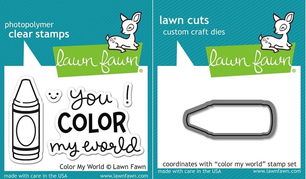Lawn Fawn Set LF15CMW CRAYON Clear Stamps and Dies  zoom image