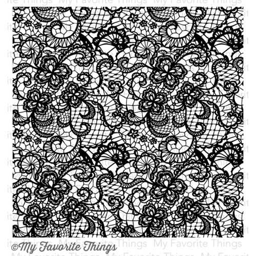 My Favorite Things LACE BACKGROUND Cling Stamp MFT BG43 Preview Image
