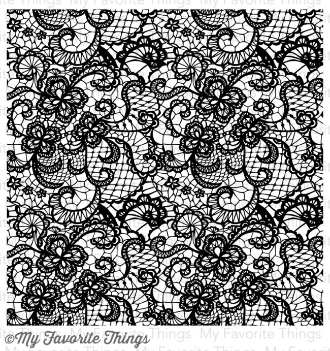 My Favorite Things LACE BACKGROUND Cling Stamp MFT BG43 zoom image