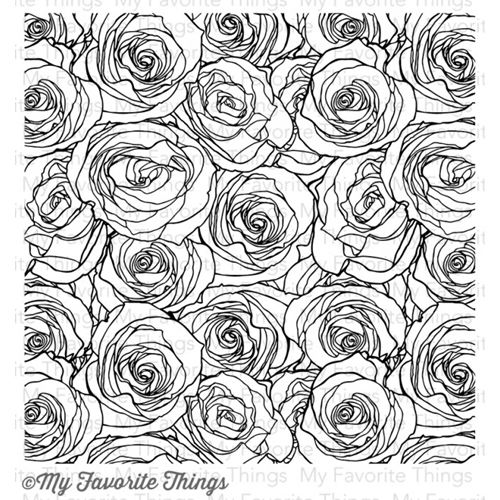 My Favorite Things ROSES ALL OVER BACKGROUND Cling Stamp MFT BG44 Preview Image