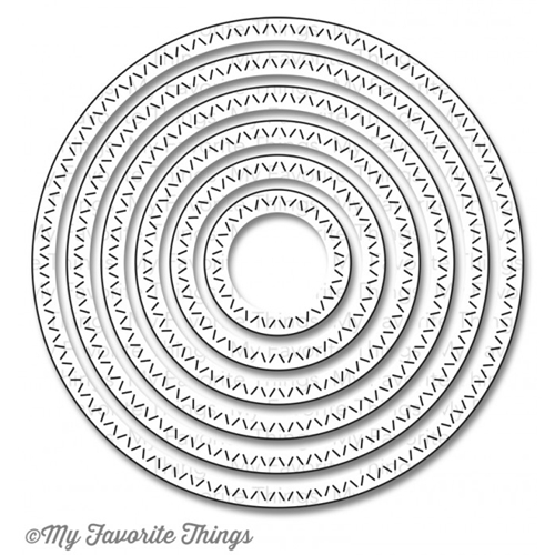 My Favorite Things ZIG ZAG STITCHED CIRCLE STAX Die-Namics MFT693 Preview Image