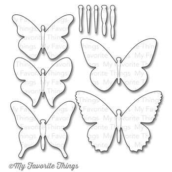 My Favorite Things SOLID FLUTTER OF BUTTERFLIES Die-Namics MFT703