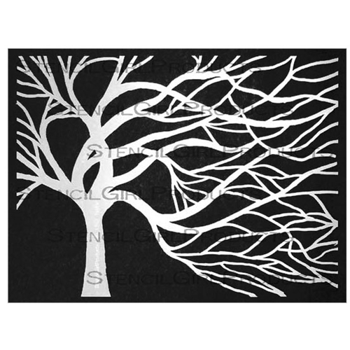 StencilGirl WINDSWEPT TREE 9x12 Stencil L357 Preview Image
