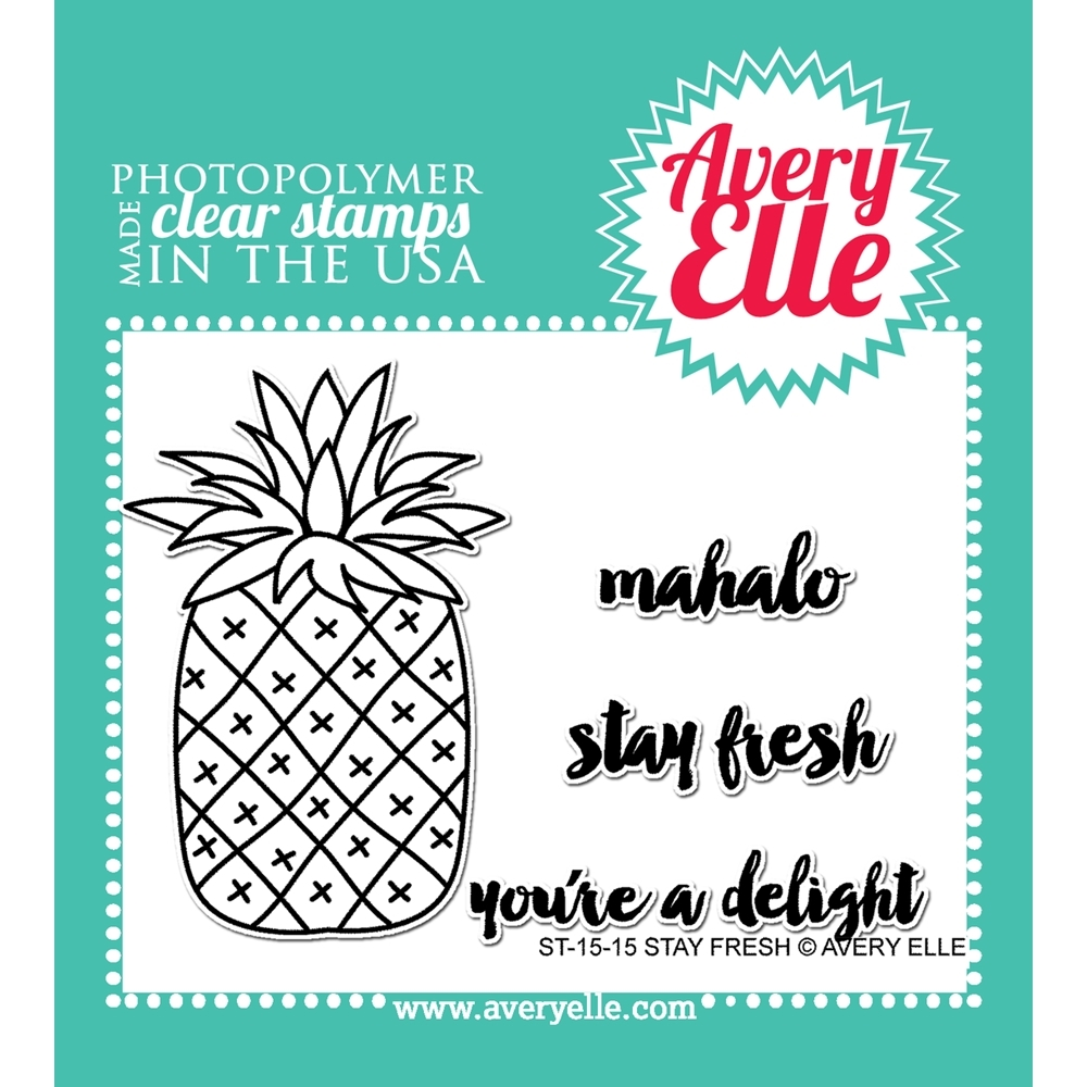 Avery Elle Clear Stamp STAY FRESH Set 022737 zoom image