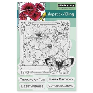Penny Black Cling Stamp COLLAGE OF WISHES 40385 Preview Image