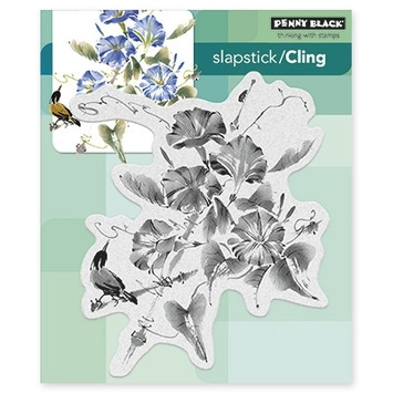 Penny Black Cling Stamp TRUMPET SONG 40377 zoom image