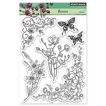 Penny Black Clear Stamps FLORETS 30299 zoom image