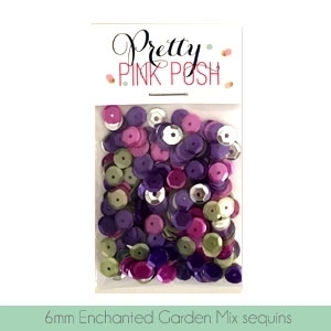 Pretty Pink Posh 6MM ENCHANTED GARDEN Cupped Sequins PPP114* zoom image