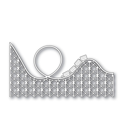 Simon Says Stamp ROCKIN ROLLER COASTER s297 Wafer Thin Dies The Color of Fun Preview Image