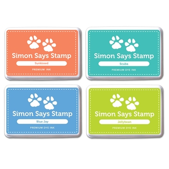 Simon Says Stamp Premium Dye Ink Pad Set LAURA'S PICKS SetLC205 The Color of Fun