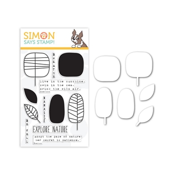 Simon Says Stamps and Die Set EXPLORE NATURE seten202 The Color of Fun
