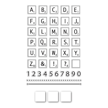 Simon Says Stamps and Dies LETTER TILES SetLT204 The Color of Fun