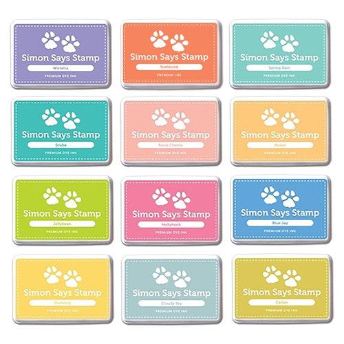 Simon Says Stamp Premium Dye Ink Pad Set DESIGNER CARNIVAL SetDC208 The Color of Fun Preview Image