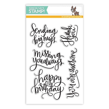 Simon Says Clear Stamps BIG SCRIPTY GREETINGS sss101527