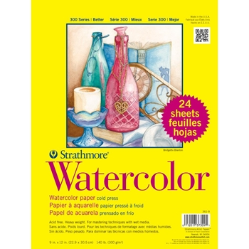 Strathmore WATERCOLOR 9x12 PAD 24 Sheets 373091