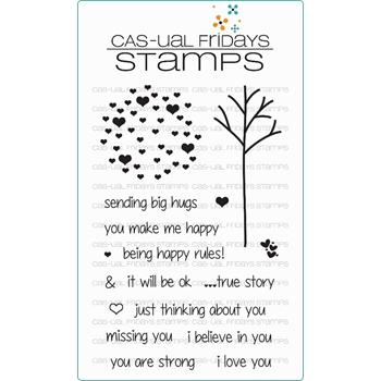 CAS-ual Fridays CALM AND LOVING Clear Stamps CFS15010