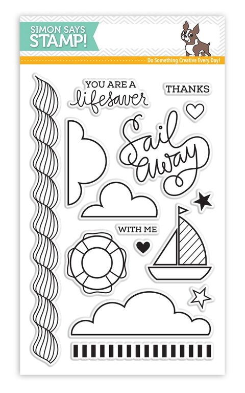 Simon Says Clear Stamps SAILING sss101535 * zoom image