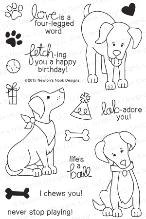 Newton's Nook Designs FETCHING FRIENDSHIP Clear Stamp Set 20150602 zoom image