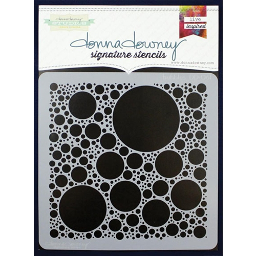 Donna Downey BUBBLES Signature Stencil