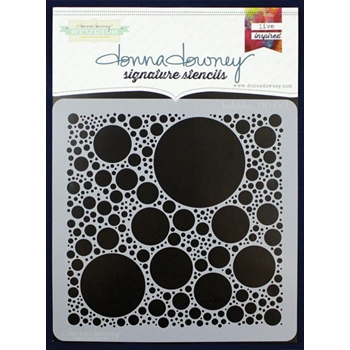 Donna Downey BUBBLES Signature Stencil DD061