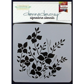 Donna Downey FLOWER BED Signature Stencil DD065*