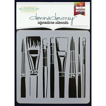 Donna Downey BRUSHES Signature Stencil DD073
