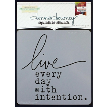 Donna Downey INTENTION Signature Stencil DD076*