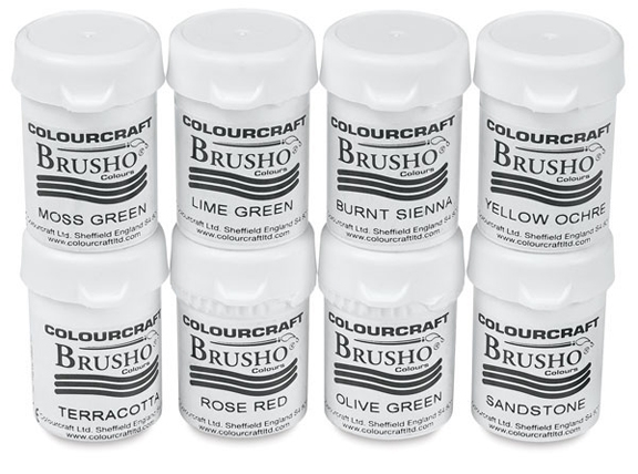 Colourcraft BRUSHO Crystal Watercolors 8 Set 853589* zoom image