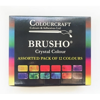 Colourcraft BRUSHO Crystal Watercolors 12 Set 850007