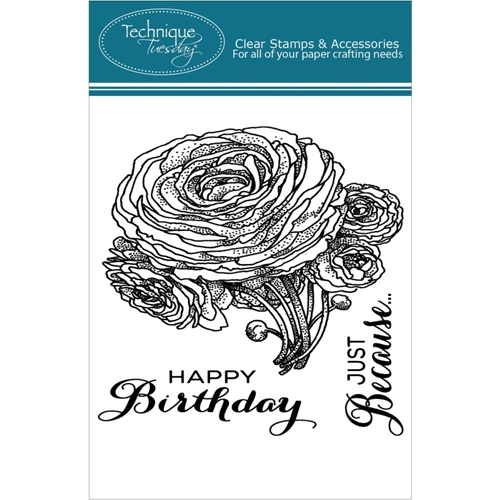 Technique Tuesday RANUNCULUS Clear Stamps 02195 Preview Image