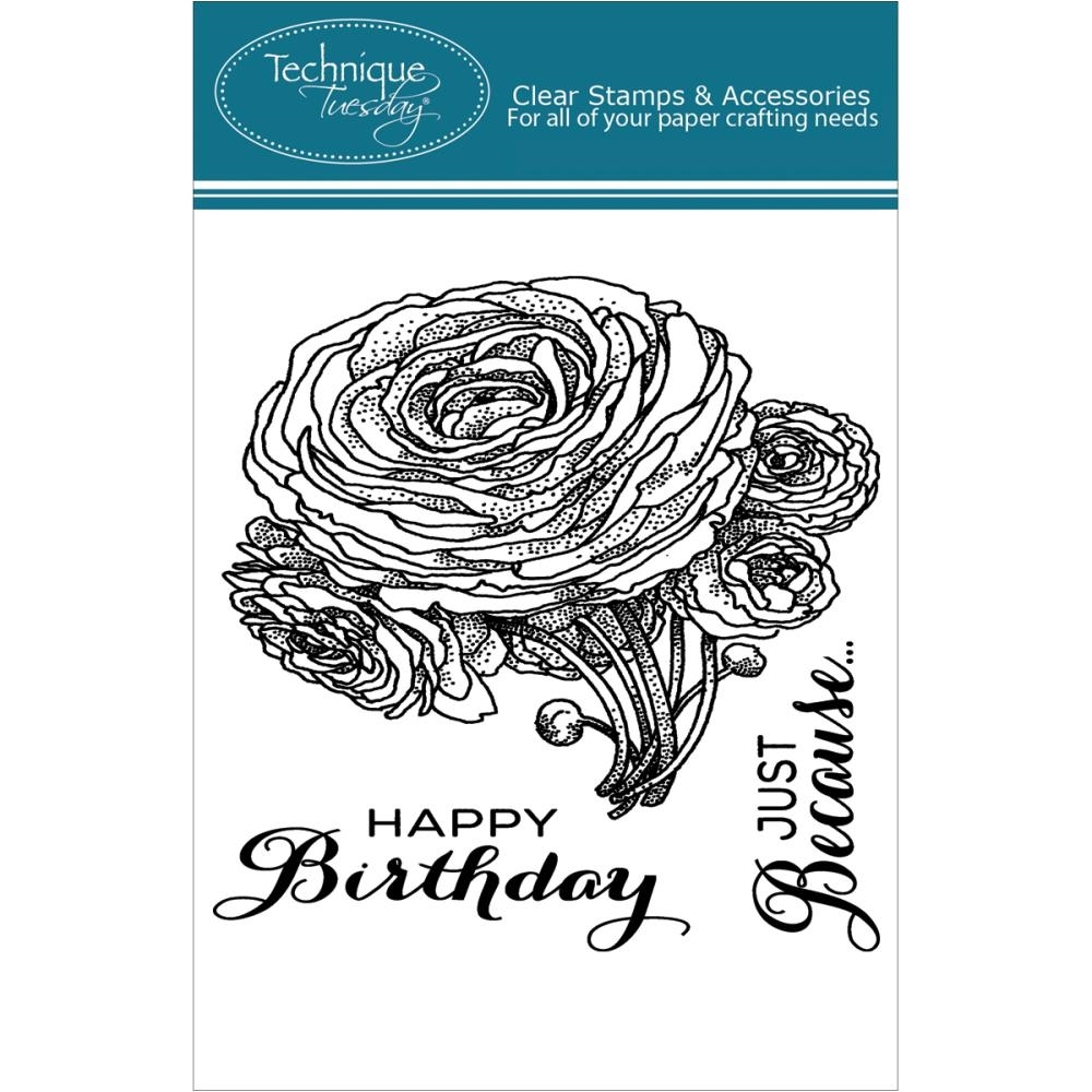 Technique Tuesday RANUNCULUS Clear Stamps 02195 zoom image
