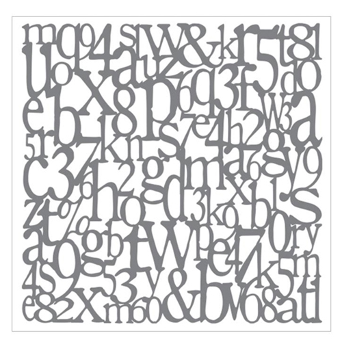 DecoArt Andy Skinner ALPHABET SPAGHETTI 8x8 Stencil ANDY101 Preview Image
