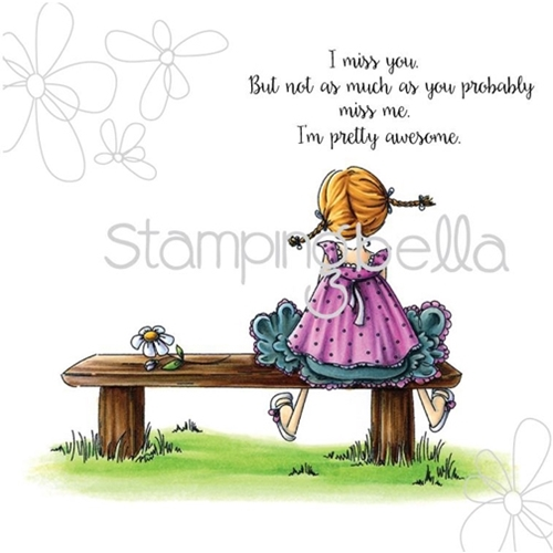 Stamping Bella Cling Stamp TINY TOWNIE AMANDA IS AWESOME Rubber UM eb314 Preview Image