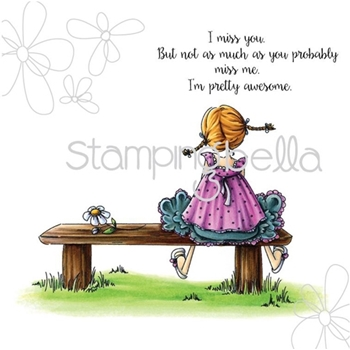 Stamping Bella Cling Stamp TINY TOWNIE AMANDA IS AWESOME Rubber UM eb314