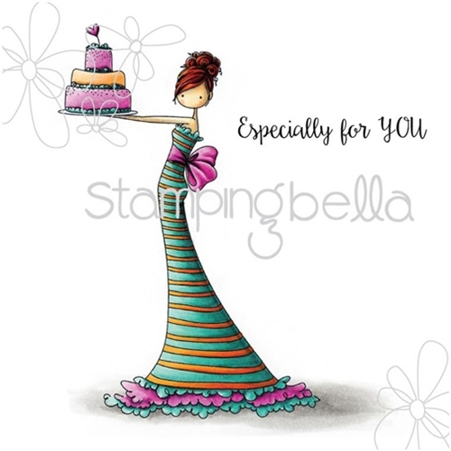 Stamping Bella Cling Stamp UPTOWN GIRL BRITTANY THE BIRTHDAY GIRL Rubber UM eb311 Preview Image