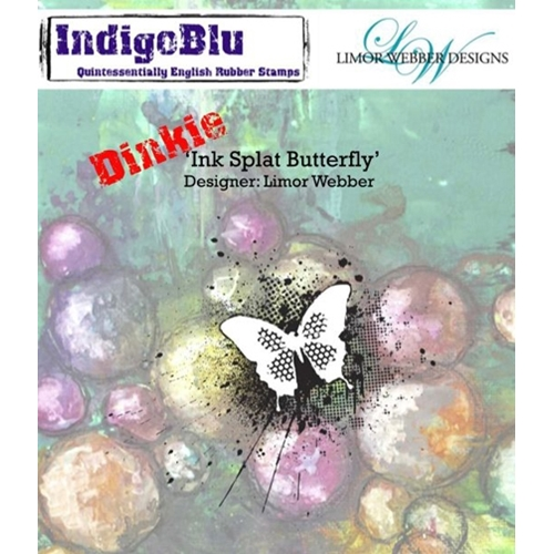 IndigoBlu Cling Stamp Dinkie INK SPLAT BUTTERFLY Rubber UM IND0143PC* Preview Image