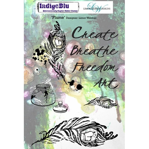 IndigoBlu Cling Stamp PLUME Rubber IND0142PC* Preview Image