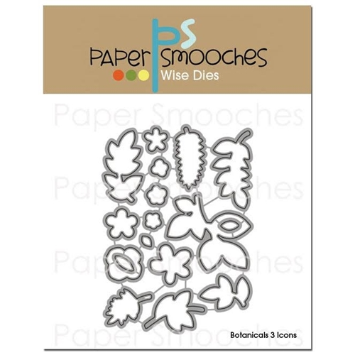 Paper Smooches BOTANICALS 3 ICONS Wise Dies J3D239 Preview Image