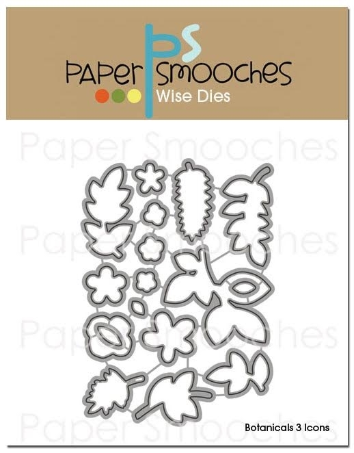 Paper Smooches BOTANICALS 3 ICONS Wise Dies J3D239 zoom image